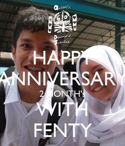 Poster: HAPPY ANNIVERSARY 2 MONTH's WITH FENTY