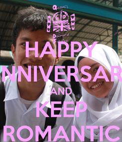 Poster: HAPPY ANNIVERSARY AND KEEP ROMANTIC