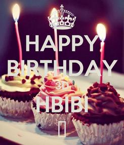 Poster: HAPPY BIRTHDAY 3D HBIBI ت