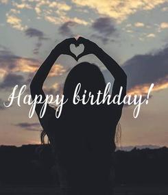 Poster: Happy birthday!