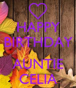 Poster: HAPPY BIRTHDAY  AUNTIE CELIA
