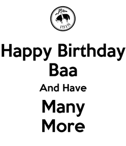 Poster: Happy Birthday Baa And Have Many More