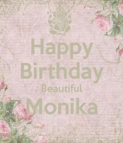 Poster: Happy Birthday Beautiful Monika