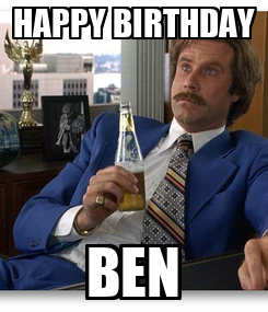 Poster: HAPPY BIRTHDAY BEN