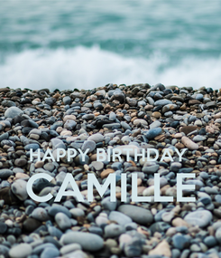 Poster:   HAPPY BIRTHDAY  CAMILLE