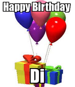 Poster: Happy Birthday  Di