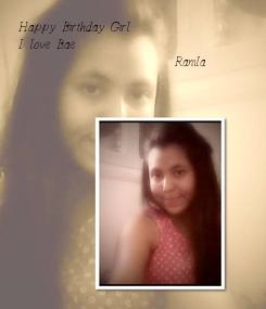 Poster: Happy Birthday Girl  I love Bae