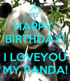 Poster: HAPPY  BIRTHDAY!  I LOVEYOU MY PANDA!