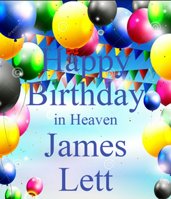 Poster: Happy Birthday in Heaven James Lett