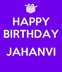 Poster: HAPPY BIRTHDAY  JAHANVI