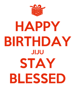 Poster: HAPPY BIRTHDAY JIJU STAY BLESSED