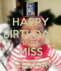 Poster: HAPPY BIRTHDAY LITTLE MISS CIARA