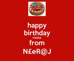 Poster: happy birthday masisa from N£eR@J