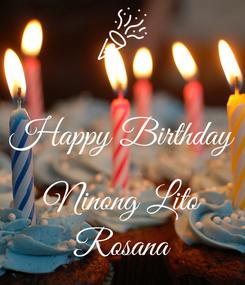 Poster:  Happy Birthday  Ninong Lito Rosana