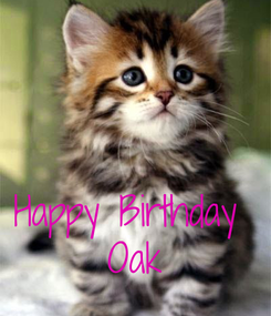Poster:    Happy Birthday  Oak