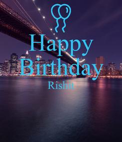 Poster: Happy Birthday Rishit
