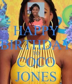 Poster: HAPPY BIRTHDAY TO COCO JONES