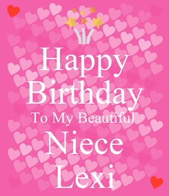 Poster: Happy Birthday To My Beautiful  Niece Lexi