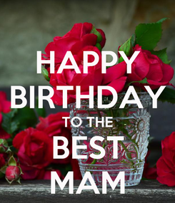 Poster: HAPPY BIRTHDAY TO THE BEST MAM