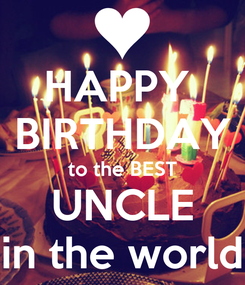 Poster: HAPPY  BIRTHDAY to the BEST UNCLE in the world