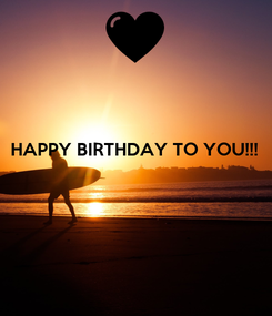 Poster: HAPPY BIRTHDAY TO YOU!!!