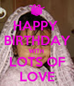Poster: HAPPY  BIRTHDAY WITH  LOTS OF LOVE