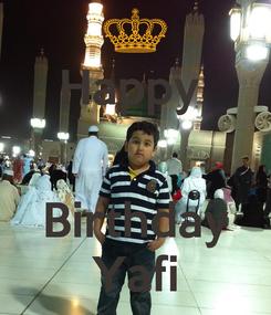 Poster: Happy    Birthday Yafi