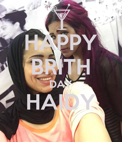 Poster: HAPPY BRITH DAY HAIDY