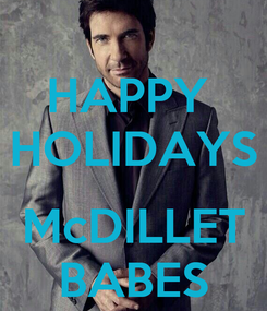 Poster: HAPPY  HOLIDAYS  McDILLET BABES
