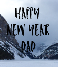 Poster: Happy  New Year Dad