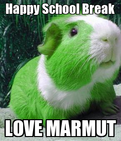 Poster: Happy School Break LOVE MARMUT