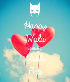 Poster: Happy Wala Birthday Yash Bro
