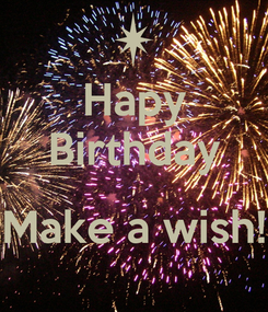Poster: Hapy Birthday  Make a wish!