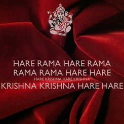 Poster: HARE RAMA HARE RAMA RAMA RAMA HARE HARE HARE KRISHNA HARE KRISHNA KRISHNA KRISHNA HARE HARE