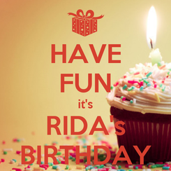 Poster: HAVE FUN it's RIDA's BIRTHDAY