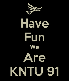 Poster: Have Fun We Are KNTU 91