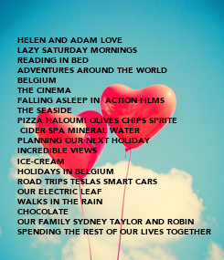 Poster: HELEN AND ADAM LOVE 
