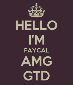 Poster: HELLO I'M FAYCAL AMG GTD