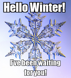 Poster: Hello Winter!  I've been waiting for you!