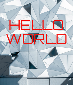 Poster: HELLO WORLD