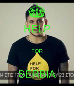 Poster: HELP  FOR  SERBIA