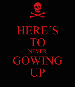 Poster: HERE´S TO NEVER GOWING UP