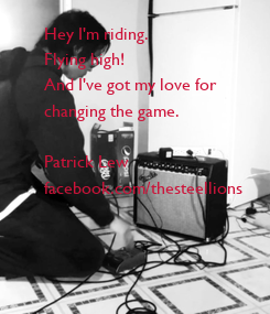 Poster: Hey I'm riding. 