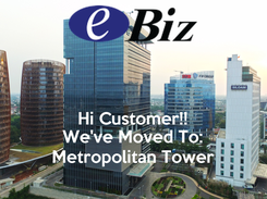 Poster:   Hi Customer!! We've Moved To: Metropolitan Tower