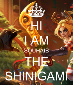 Poster: HI I AM SOUHAIB THE SHINIGAMI