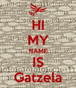 Poster: HI MY NAME IS Gatzela