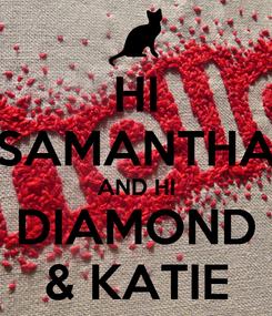 Poster: HI SAMANTHA AND HI DIAMOND & KATIE