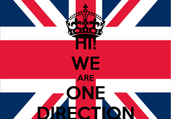 Poster: HI! WE ARE ONE DIRECTION