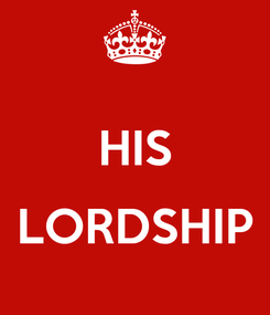 Poster:  HIS  LORDSHIP