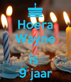 Poster: Hoera Wayne  is  9 jaar